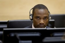 ICC indictee Germain Katanga during his trial at The Hague.